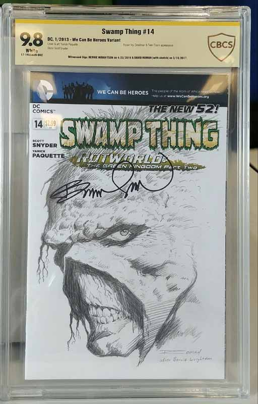 Swamp Thing #14 Signed by Bernie Wrightsom CBCS 9.8
