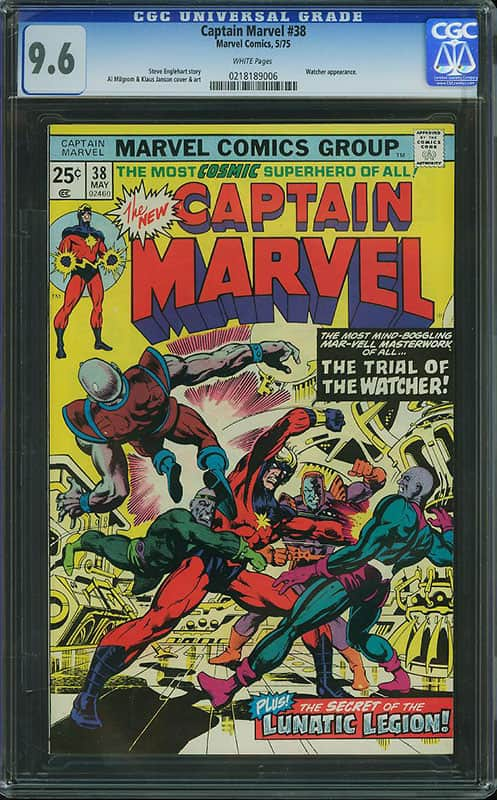 Captain Marvel #38 CGC 9.6 WP