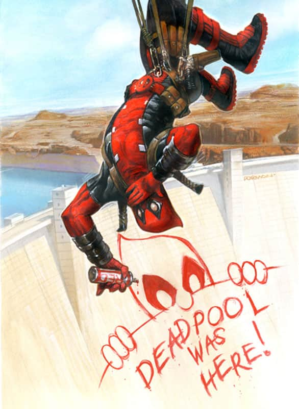 Deadpool Fleer Card Art