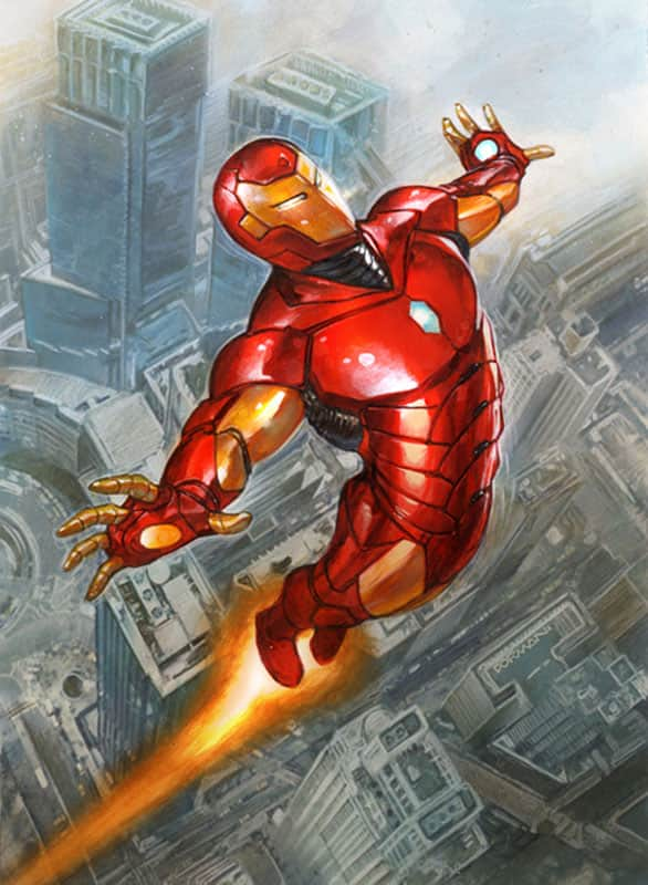 Iron Man Fleer Card Art