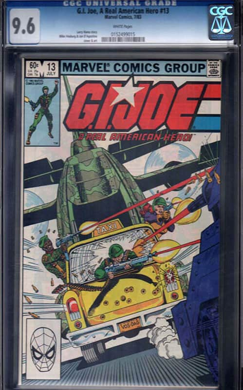 GI Joe #13 CGC 9.6 WP