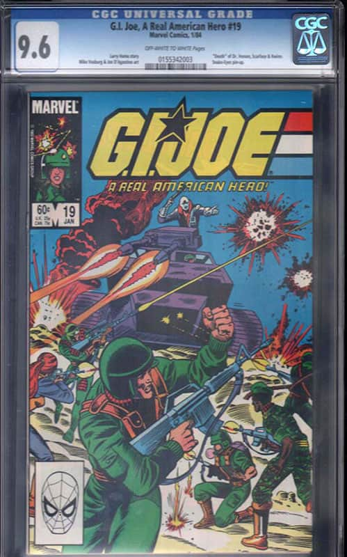GI Joe #19 CGC 9.6 OW/WP
