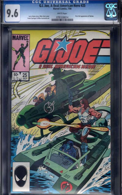 GI Joe #25 CGC 9.6 WP