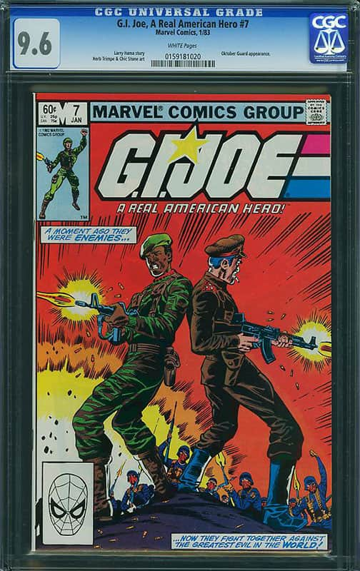 GI Joe # 7 CGC 9.6 WP