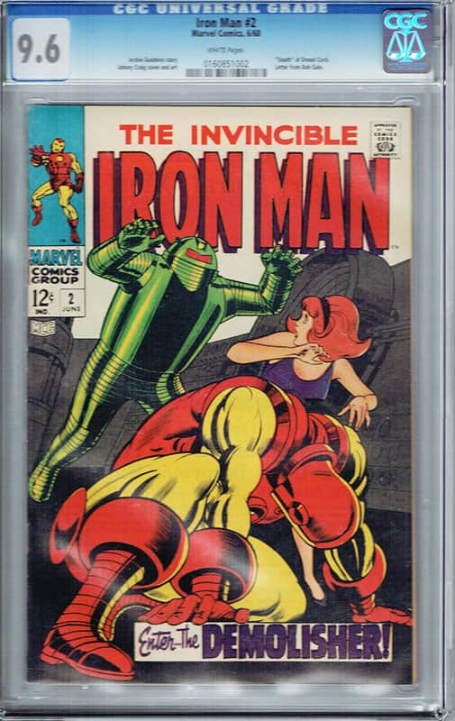 Iron man # 2 CGC 9.6 WP