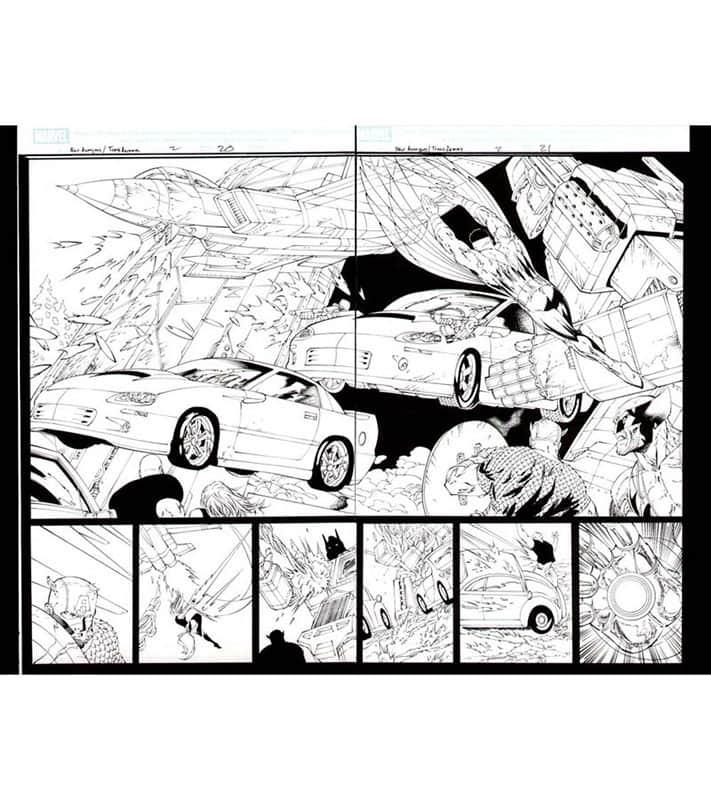 N.Avengers/Transformers #2 pg 20 & 21