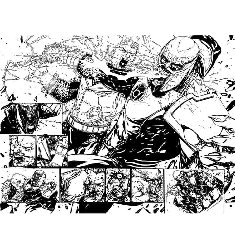 Red Lanterns # 21 pg17 & 18
