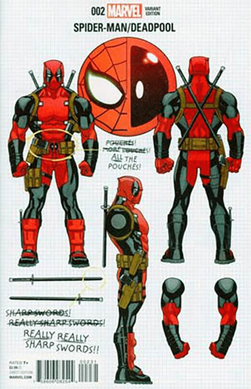 Spider-man  / Deadpool # 1 Build Your Own DeadPool Variant
