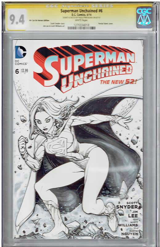 Superman Unchained # 6 CGC 9.4 Signature Series