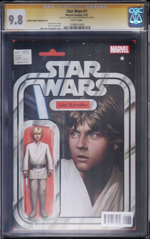 Star Wars # 1 Luke SkyWalker CGC 9.8 WP Signature Series