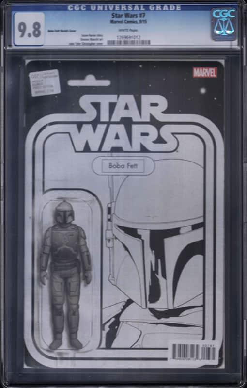 Star Wars # 7F Boba Fett  B&W CGC 9.8 WP