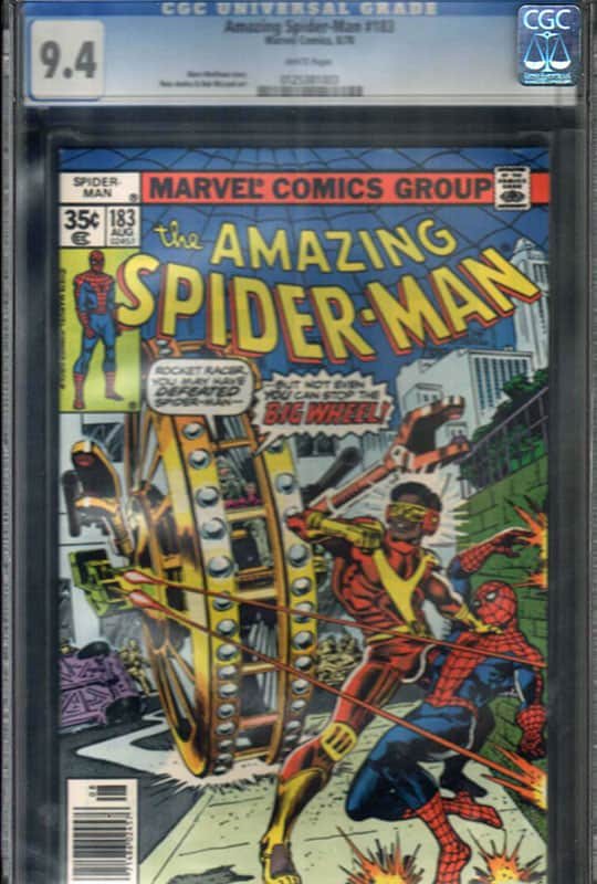 Amazing Spiderman #183 CGC 9.4 WP