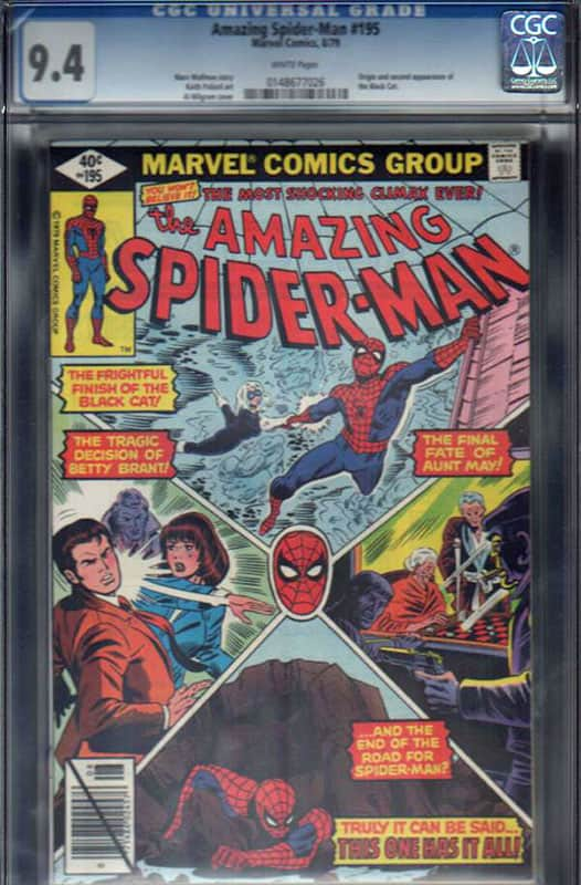 Amazing Spiderman #195 CGC 9.4 WP