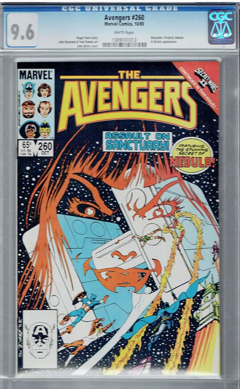 Avengers #260 CGC 9.6 WP