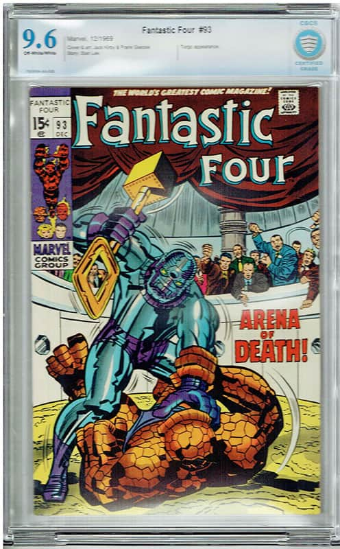Fantastic Four #93 CBCS 9.6 OW/WP