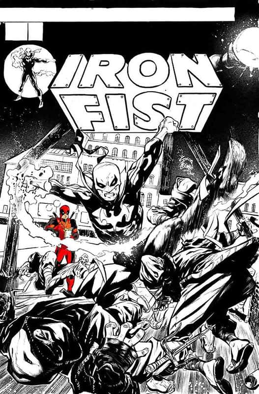 Iron Fist # 1 Cover B B&W Noodle Variant