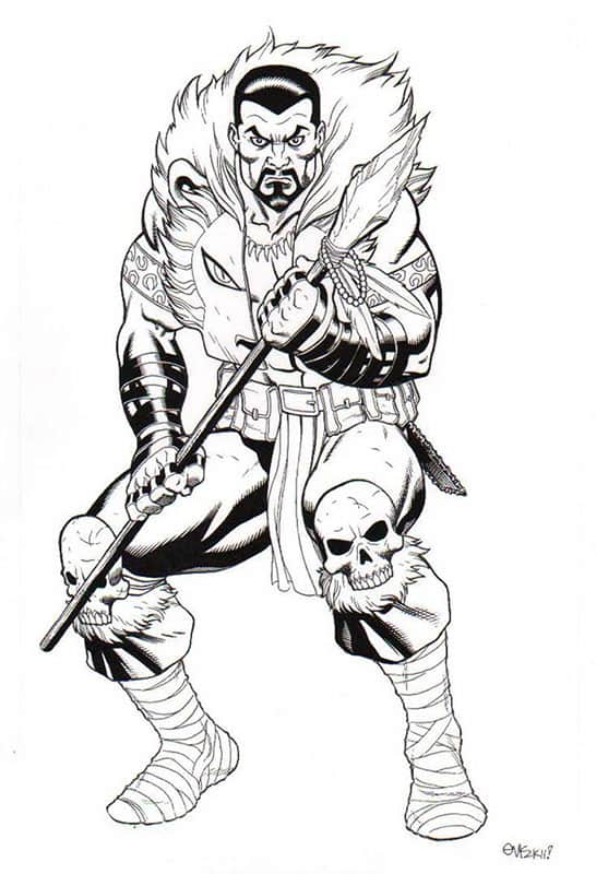 Kraven the Hunter- Marvel Universe Toy Series Art
