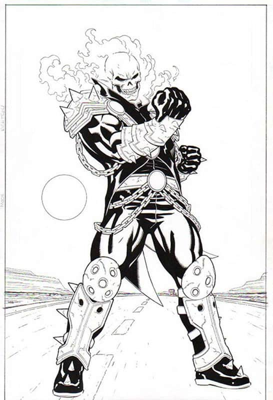 Ghost Rider- Marvel Legends Toy Series Art