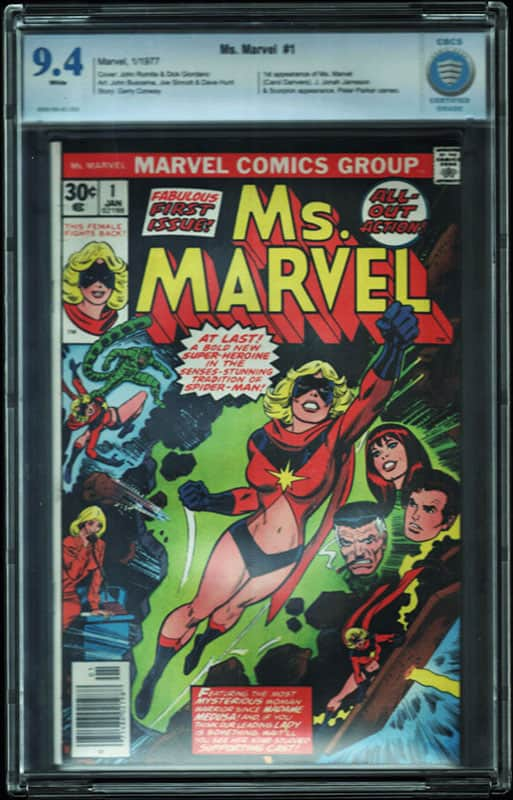 Ms. Marvel # 1 CBCS 9.4 WP