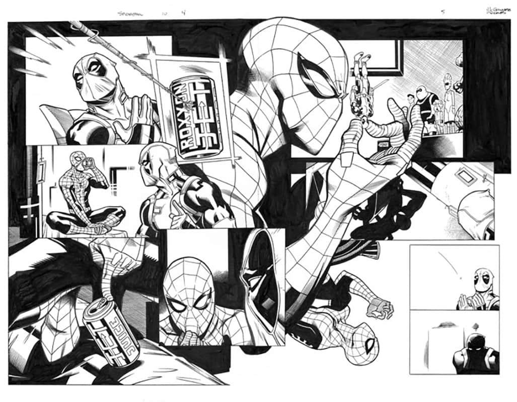 Spider-man / Deadpool #10 pg 4&5