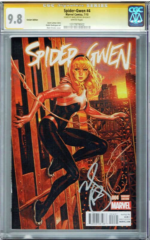 Spider-Gwen # 4 Variant Edition CGC 9.8 Signature Series