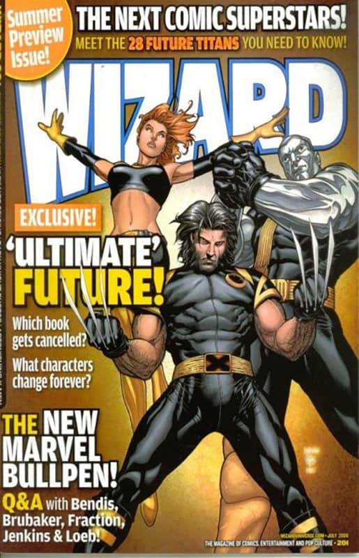 WIZARD #201 cover