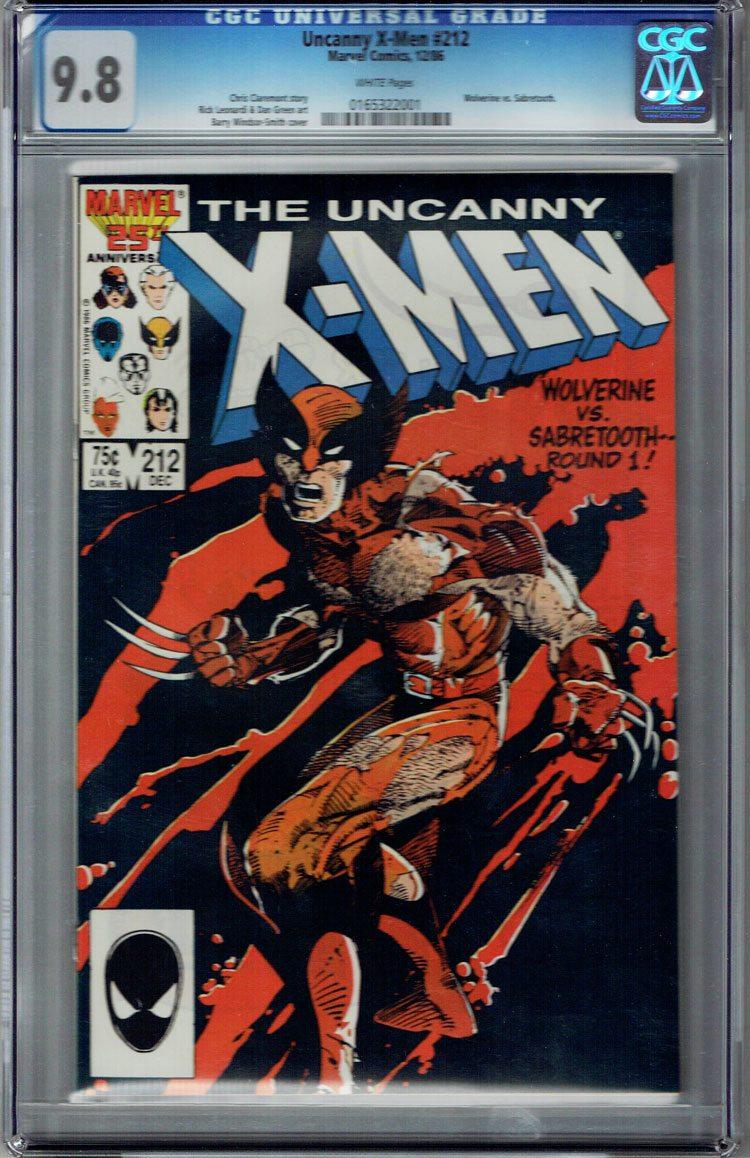 Uncanny X-Men #212 CGC 9.8 WP