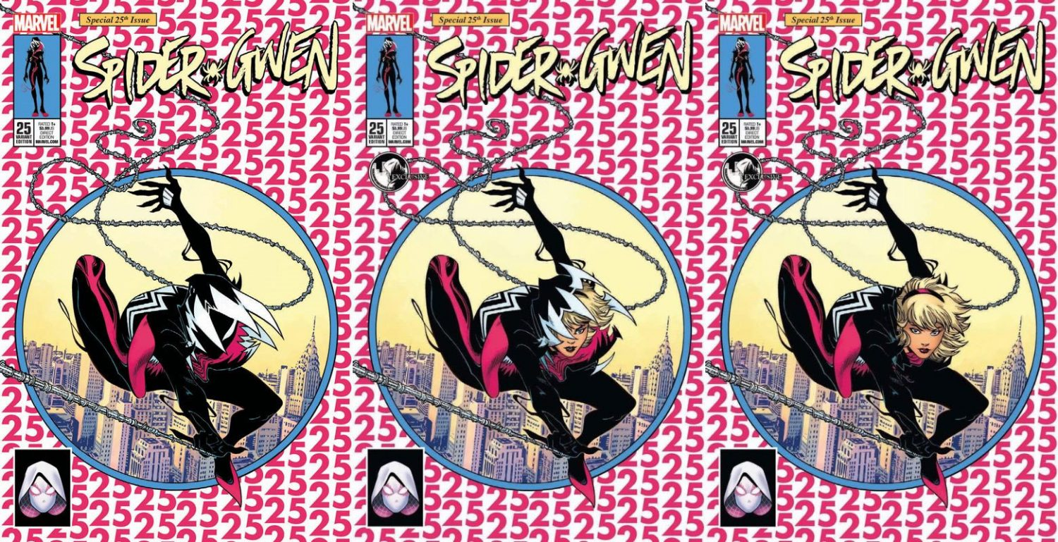 Spider-Gwen #25 Cover A,B, & C Set