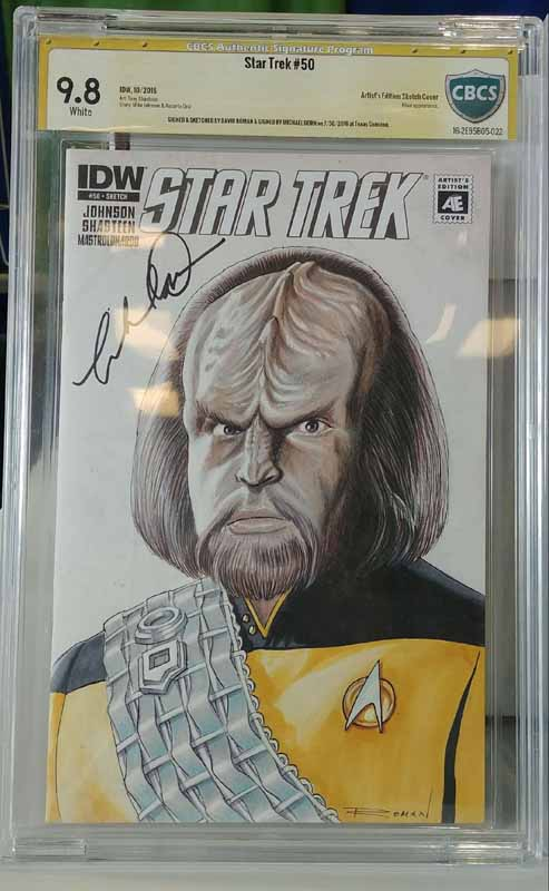Star Trek #50 Signed by Michael Dorn CBCS 9.8
