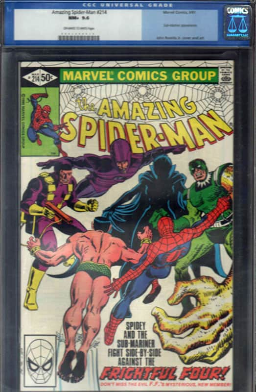 Amazing Spiderman #214 CGC 9.6 OW/WP
