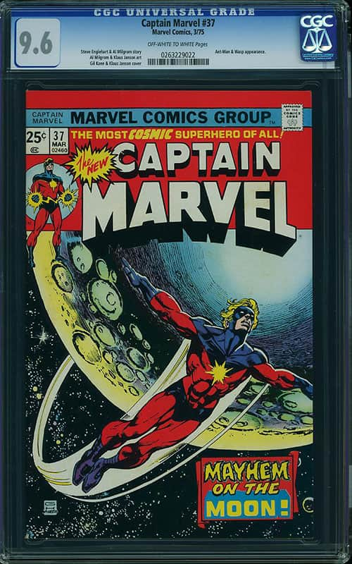 Captain Marvel #37 CGC 9.6 OW/WP