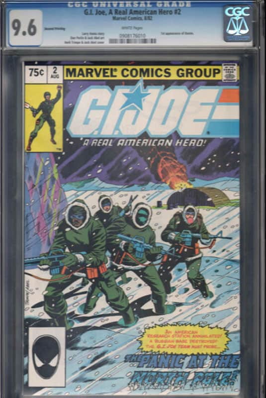 GI Joe # 2 2nd printing CGC 9.6 WP