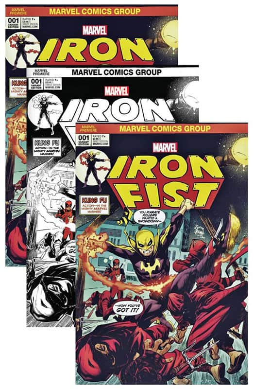 Iron Fist # 1 Noodle Variant Cover Set