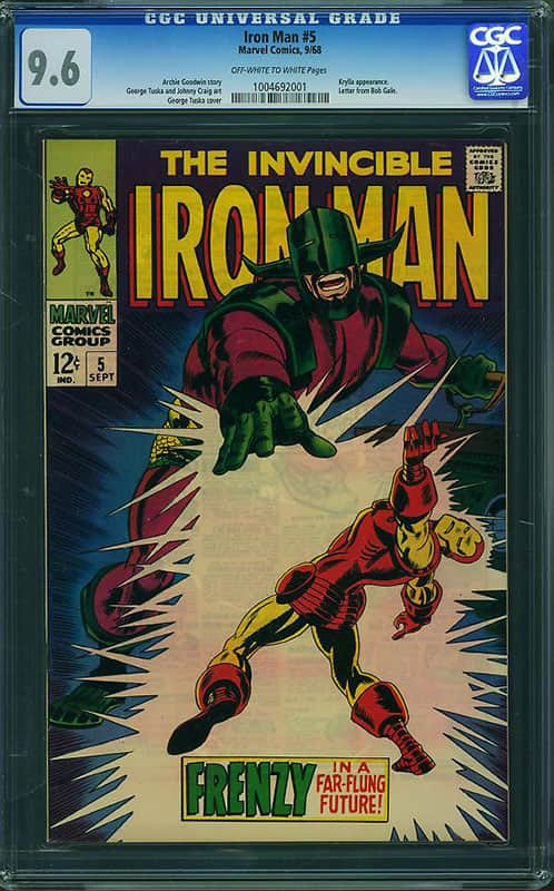 Iron Man # 5 CGC 9.6 OW/WP
