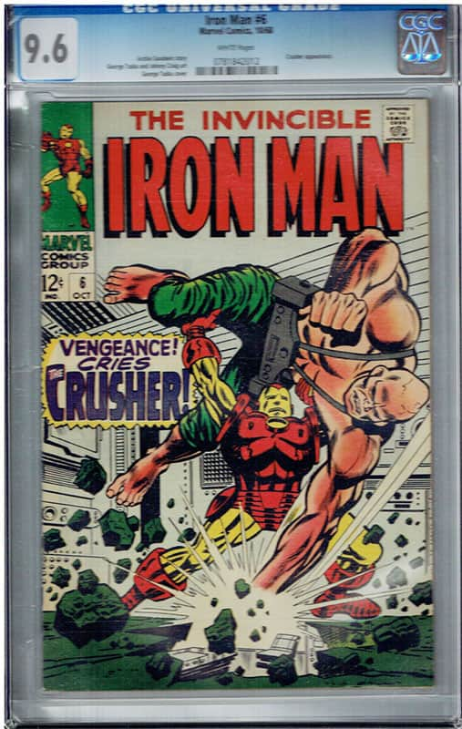 Iron man # 6 CGC 9.6 WP