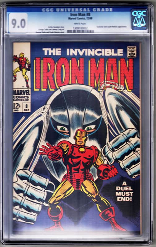 Iron man # 8 CGC 9.0 WP