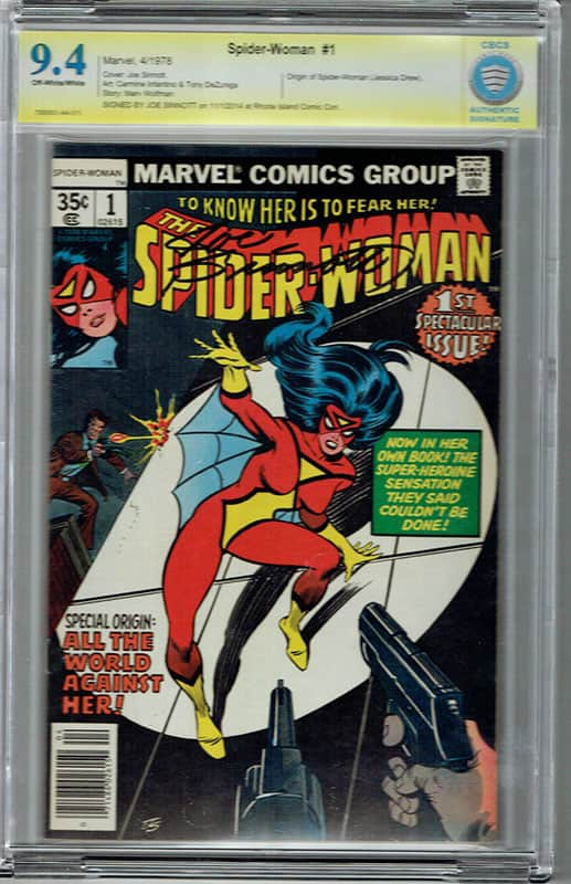 Spider-Woman # 1 CBCS 9.4 OW/WP Signature Series