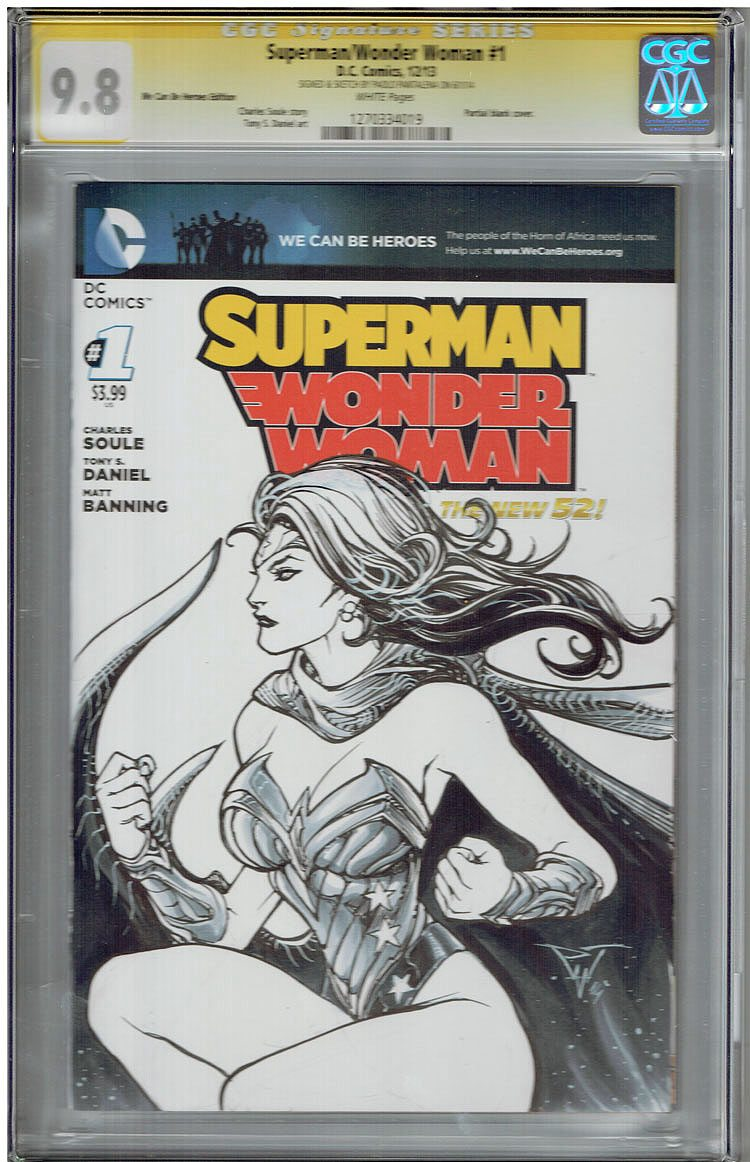 Superman/WonderWoman # 1 CGC 9.8 WP Signatures Series