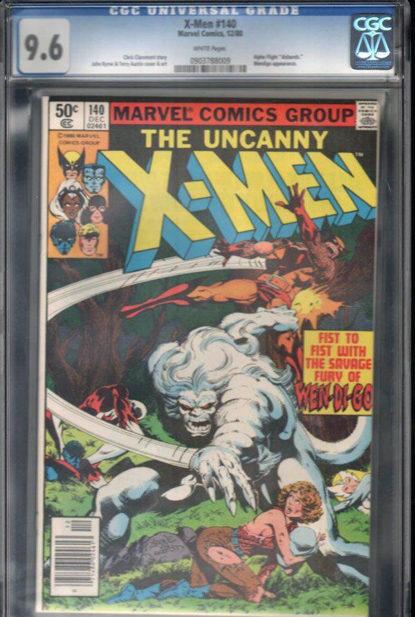 Uncanny X-Men #140 CGC 9.6 WP