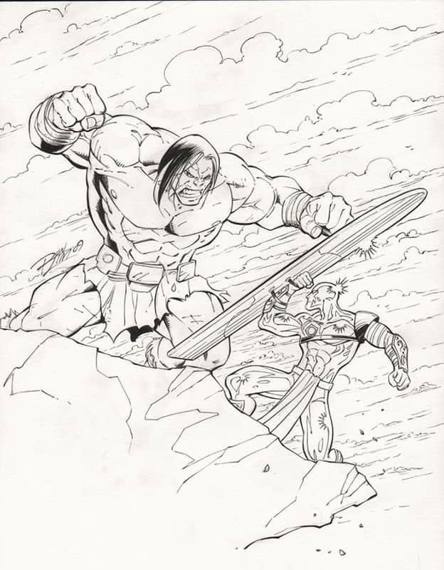Silver Surfer vs. Skaar