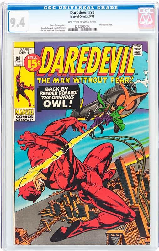 DareDevil # 80 CGC 9.4 OW/WP