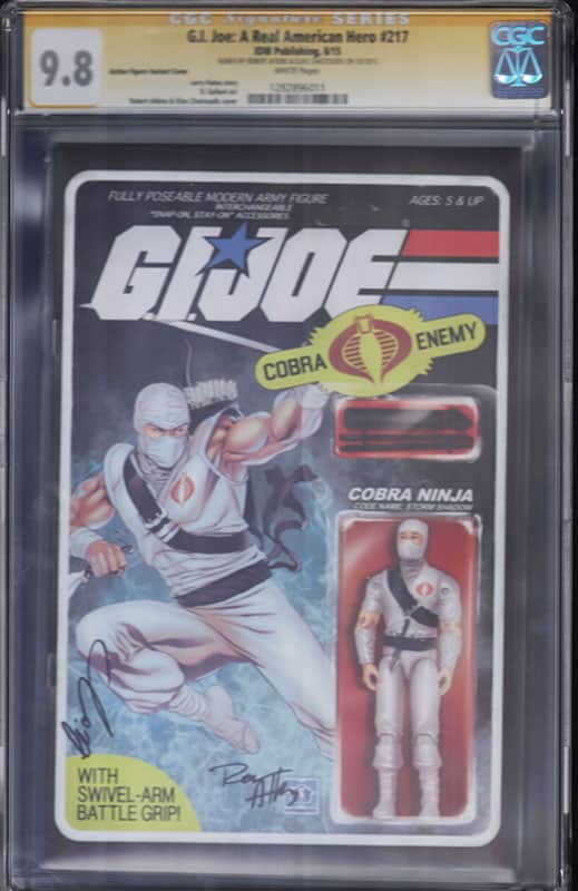 GI Joe: Real American Hero #217 CGC 9.8 WP Signature Series