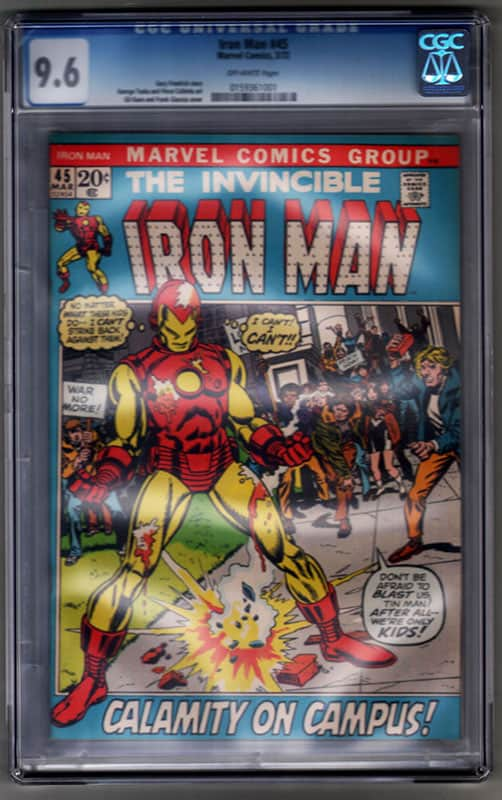 Iron man #45 CGC 9.6 OWP