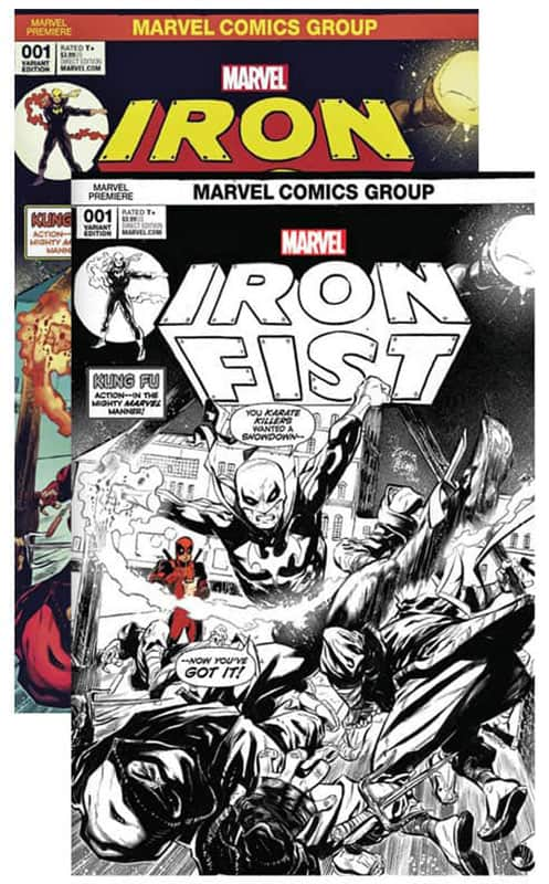 Iron Fist # 1 Cover A&B B&W Noodle Set