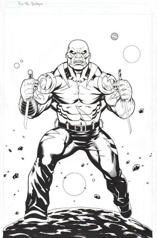 Drax the Destroyer- Marvel Legends Toy Series Art