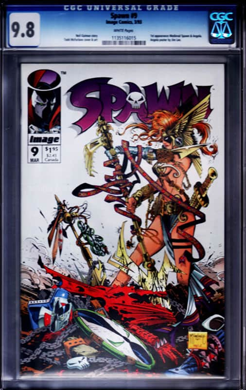 Spawn # 9 CGC 9.8 WP 1st Angela