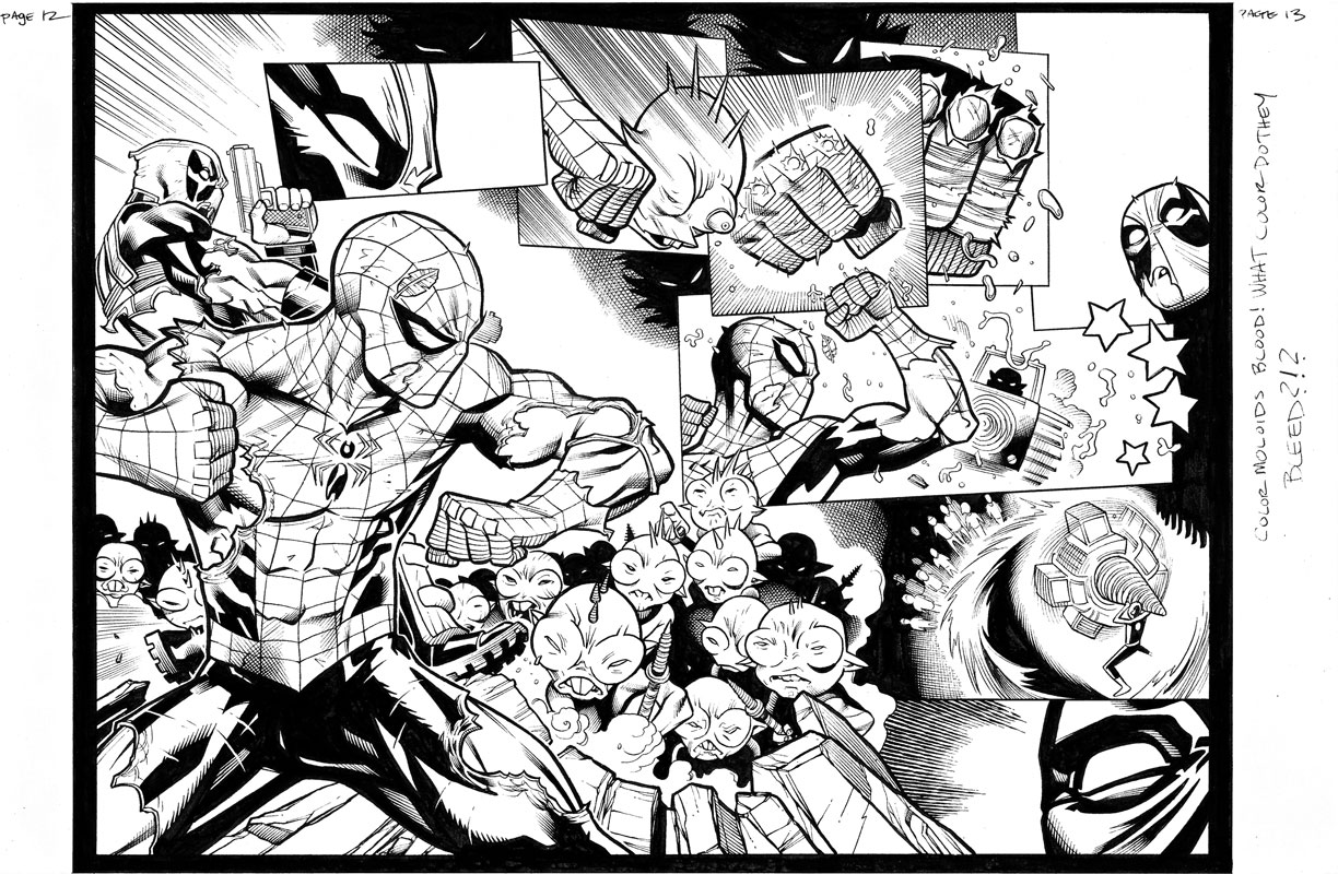Spider-Man / Deadpool #13 pg12&13