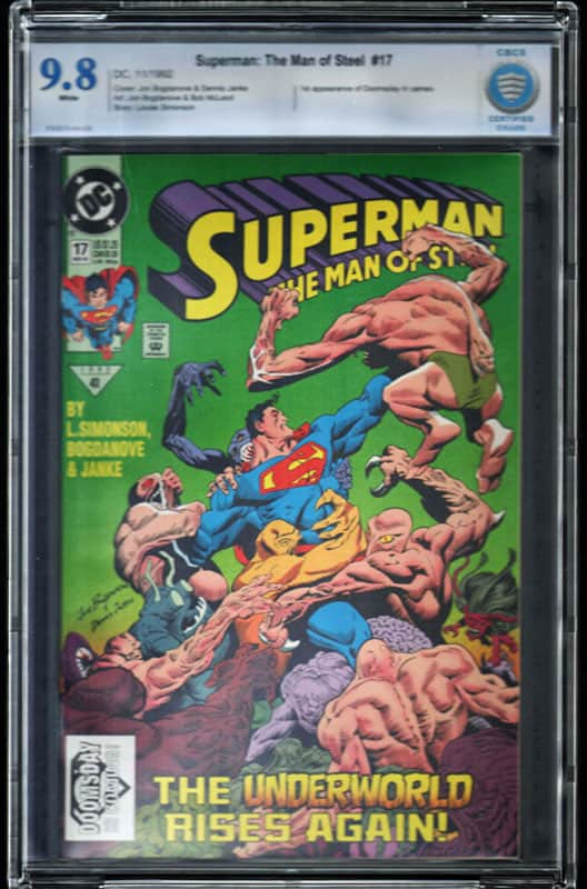 Superman: The man of Steel #17 CBCS 9.6 WP 1st Doomsday