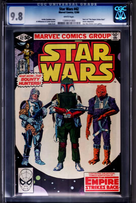 Star Wars #42 CGC 9.8 WP 1st Boba Fett