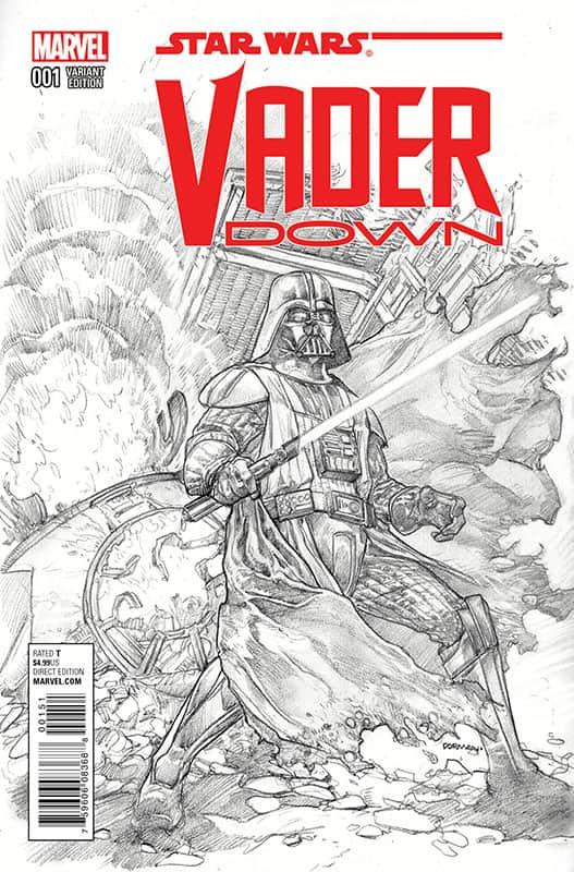 Vader Down # 1 B&W M&M variant